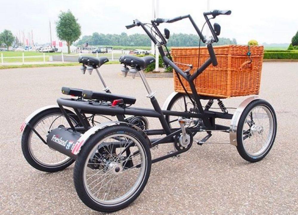 Samen fietsen op een Duofiets